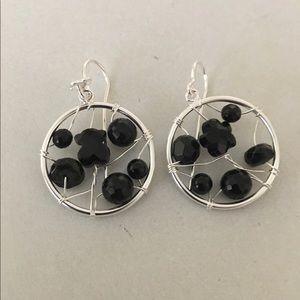 Tous Jewelry - Tous original onyx silver hook earrings